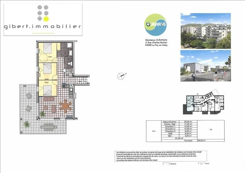 Sale apartment Le puy en velay 198400€ - Picture 3