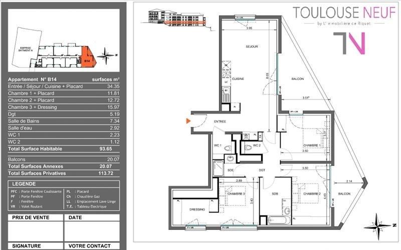 Vente appartement Toulouse 404000€ - Photo 6