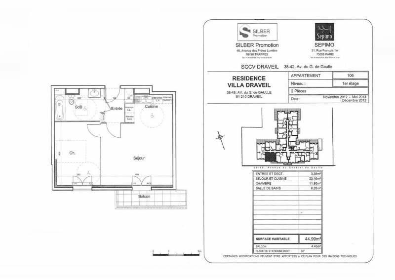 Location appartement Draveil 800€ CC - Photo 2