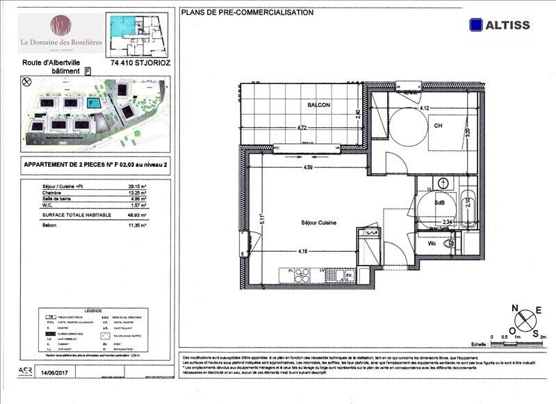 Sale apartment Saint-jorioz 211000€ - Picture 2