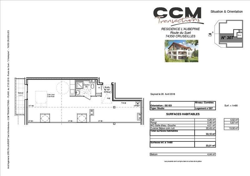 Vente appartement Cruseilles 175000€ - Photo 2