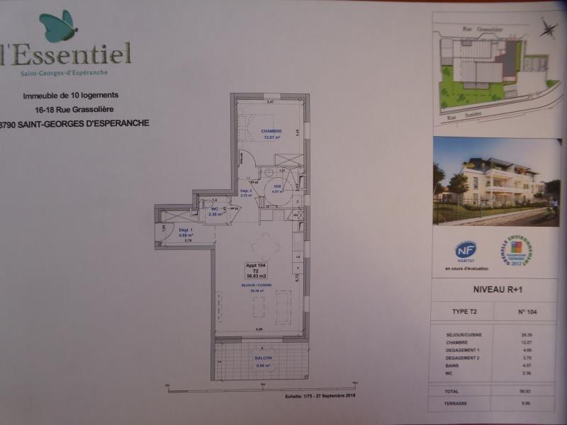 Vente appartement St georges d esperanche 180000€ - Photo 2