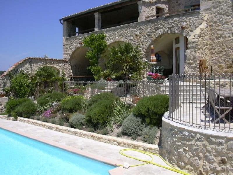 Verkauf von luxusobjekt haus Barjac 799000€ - Fotografie 1