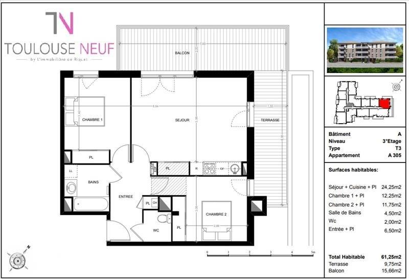 Vente appartement Toulouse 270000€ - Photo 6