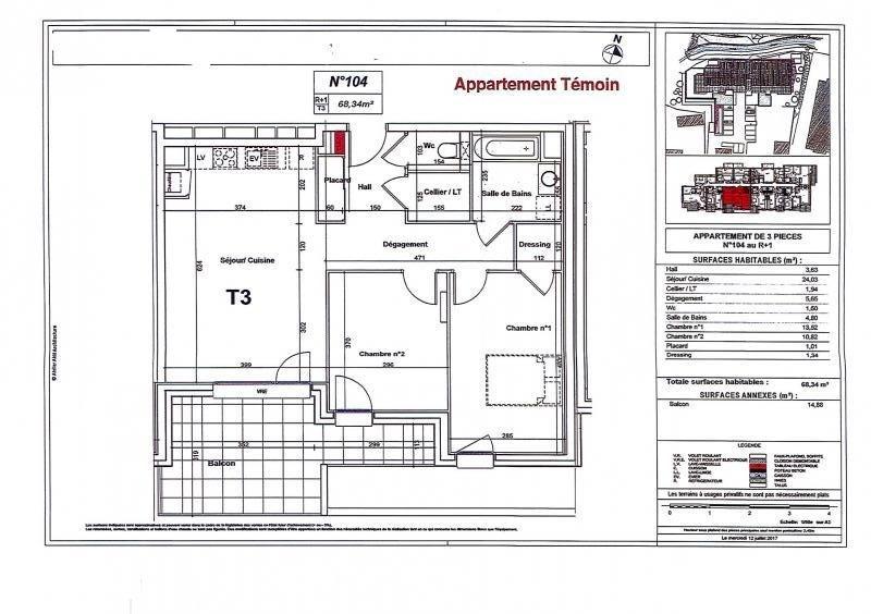 Vente appartement Bonneville 221000€ - Photo 3