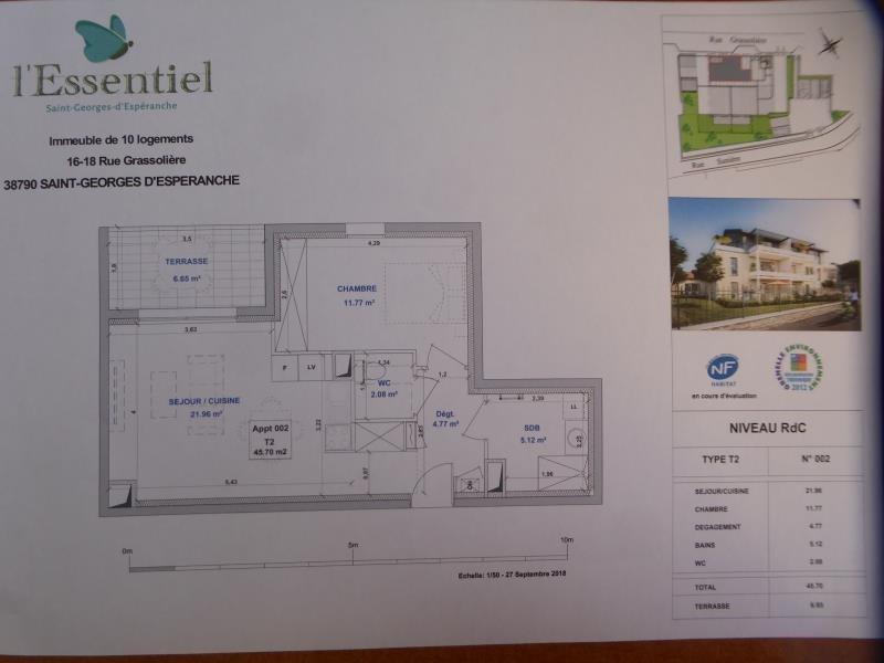 Vente appartement St georges d'esperanche 155000€ - Photo 2