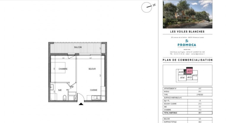 Sale apartment Villeneuve loubet 239 000€ - Picture 2