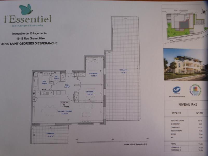 Vente appartement St georges d'esperanche 265000€ - Photo 2