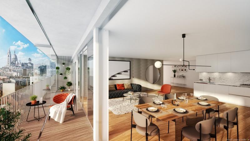 Vente de prestige appartement Paris 18ème 1433000€ - Photo 2