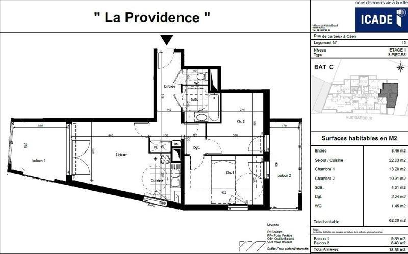 Location appartement Caen 633€ CC - Photo 1