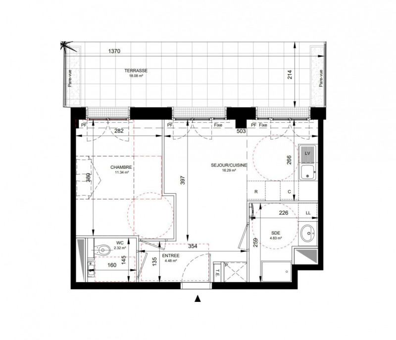Produit d'investissement appartement Levallois-perret 438000€ - Photo 1