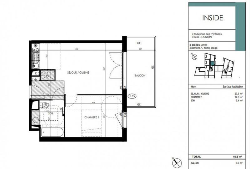 Vente appartement L'union 194000€ - Photo 3