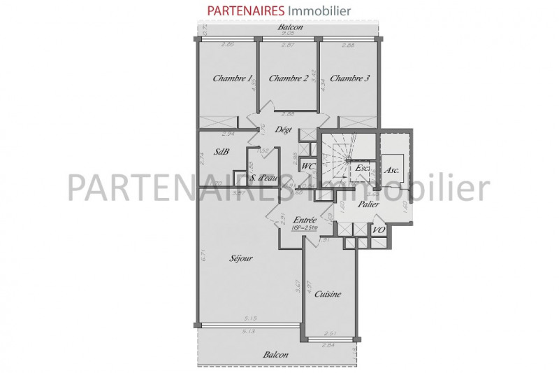 Sale apartment Le chesnay 598 000€ - Picture 4