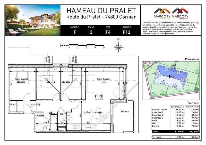 Sale apartment Cornier 259000€ - Picture 5