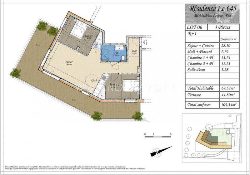 Vente appartement Èze 449141€ -  4