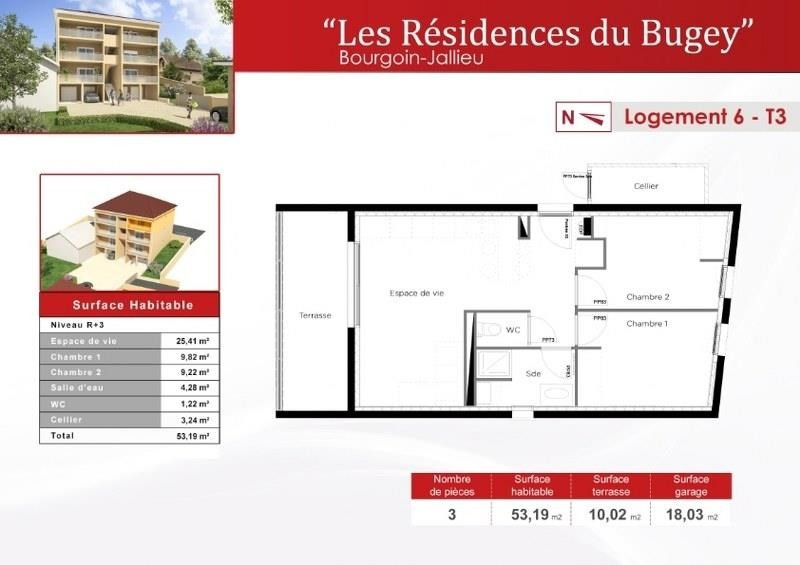 Sale apartment Bourgoin jallieu 176570€ - Picture 3