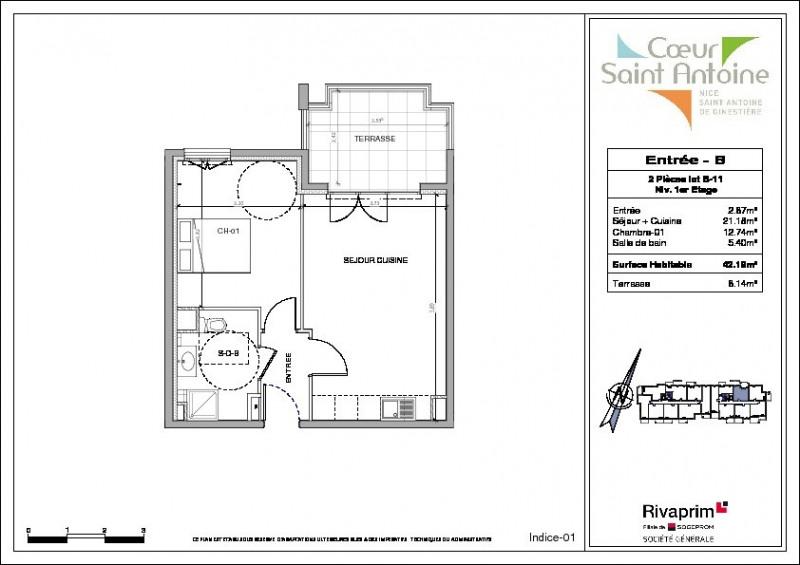 Revenda apartamento Nice 220000€ - Fotografia 3