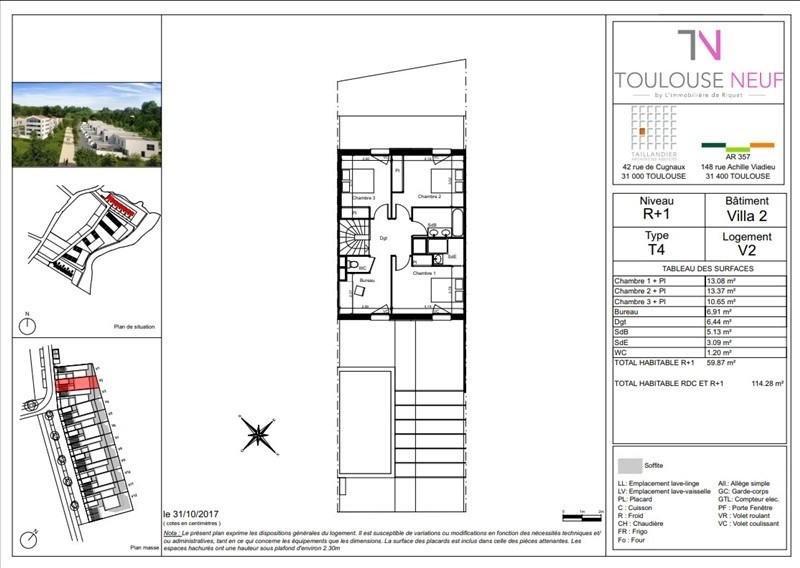 Vente maison / villa Toulouse 335500€ - Photo 2