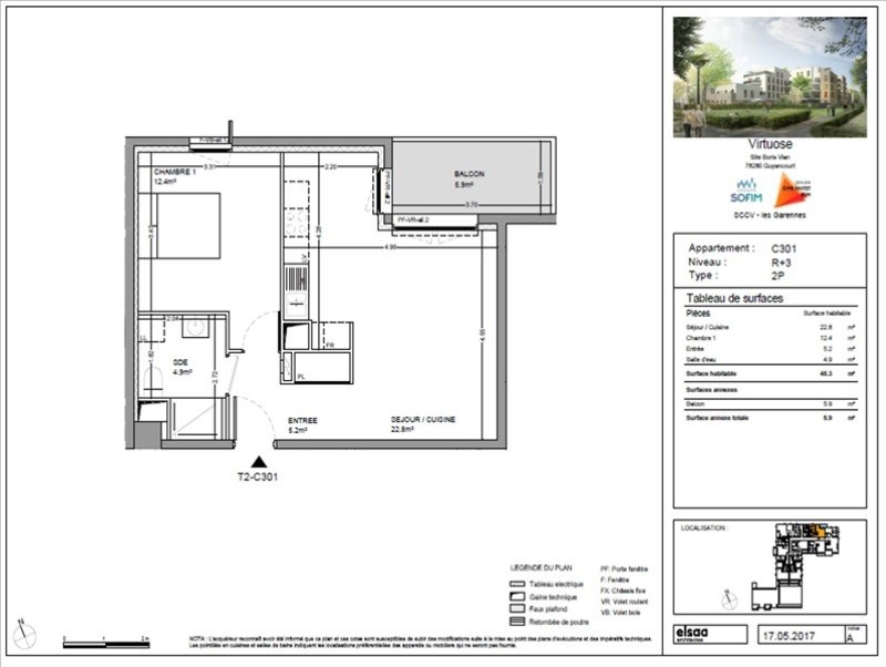 Verkoop  appartement Guyancourt 244900€ - Foto 1