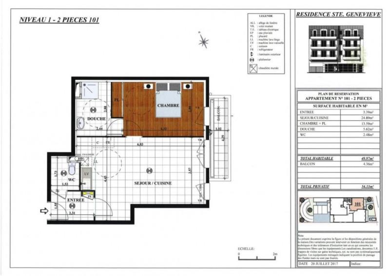 Sale apartment Sainte genevieve des bois 220000€ - Picture 2