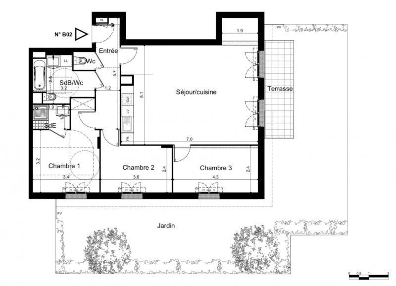 Sale apartment Plaisir 332000€ - Picture 2