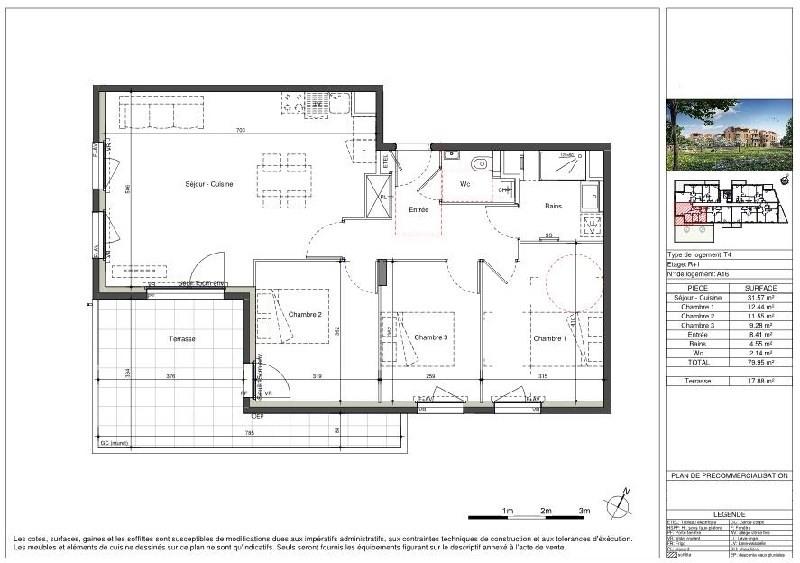 Sale apartment Lozanne 291000€ - Picture 3