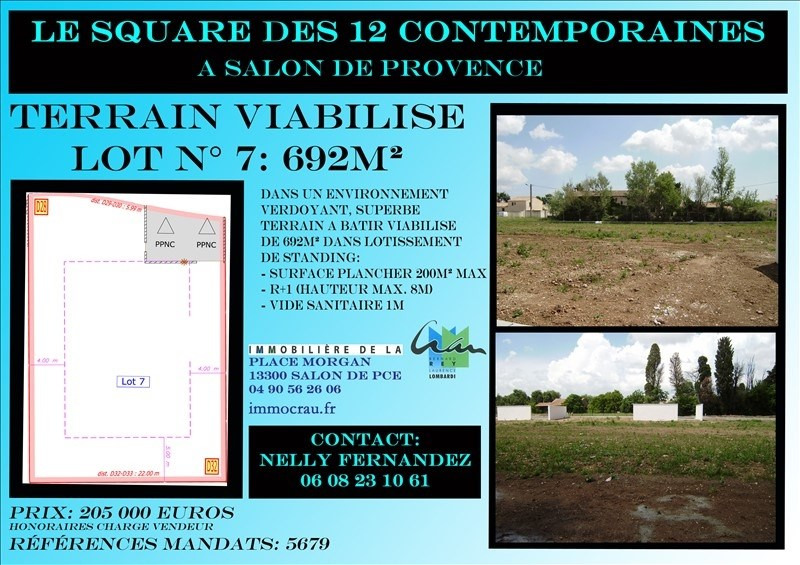 Vente terrain Salon de provence 205000€ - Photo 1