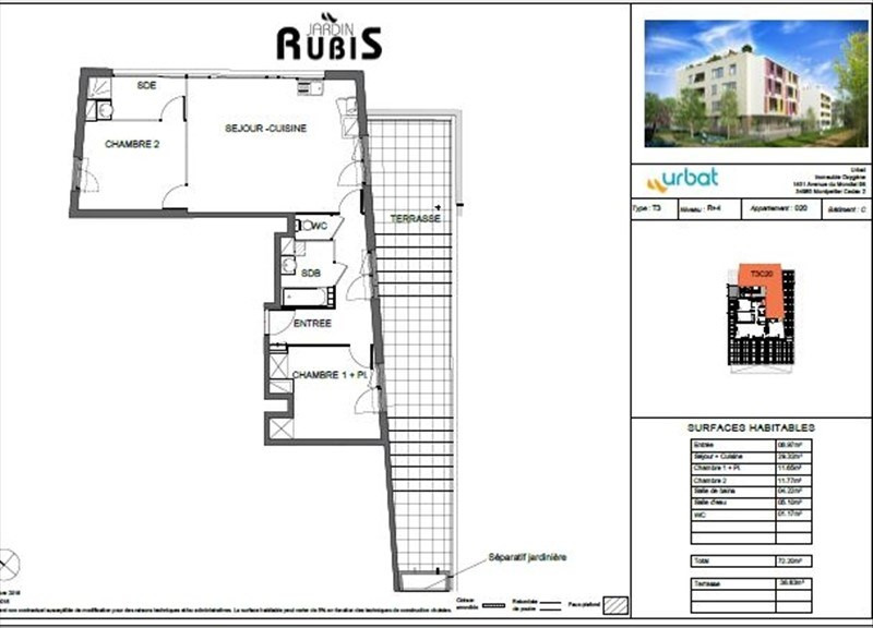 Sale apartment Montpellier 367 000€ - Picture 4