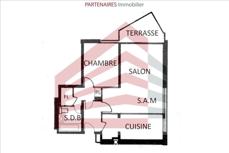 Sale apartment Le chesnay 221000€ - Picture 4