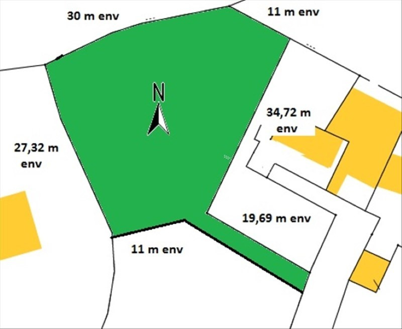 Vente terrain Confort-meilars 32100€ - Photo 2