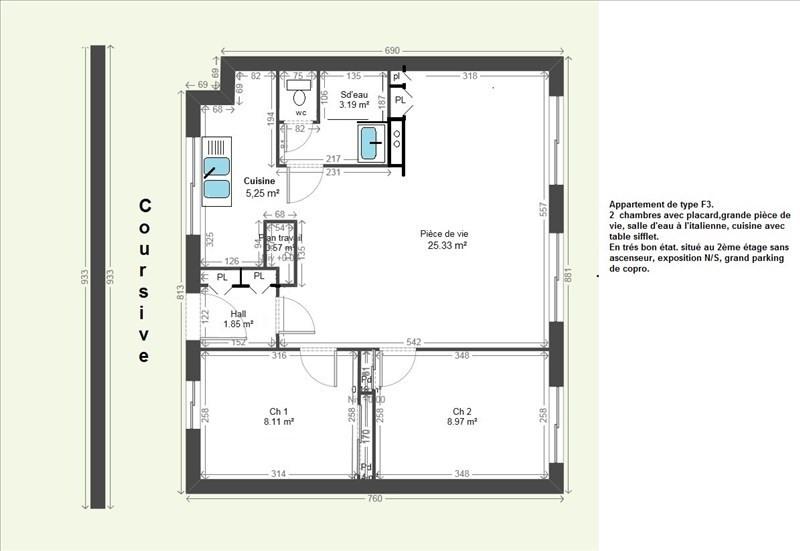 Vente appartement Grenoble 86000€ - Photo 2