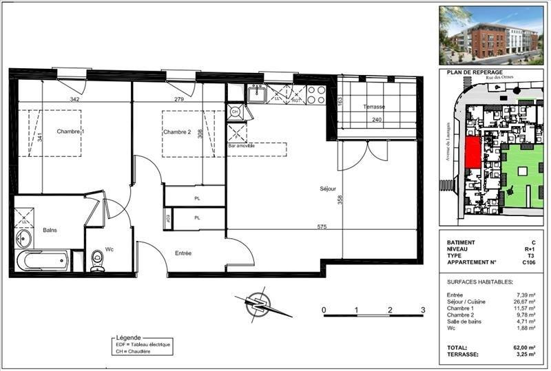 Vente appartement Castanet tolosan 206000€ - Photo 9