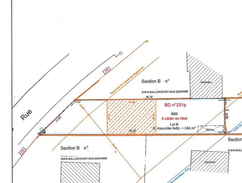 Vente terrain Ballancourt sur essonne 126500€ - Photo 1