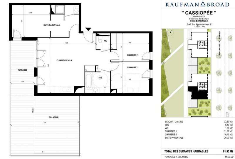 Rental apartment Beauzelle 995€ CC - Picture 5