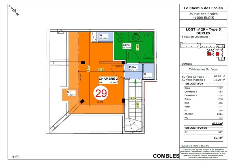 Vente appartement Blois 166500€ - Photo 5