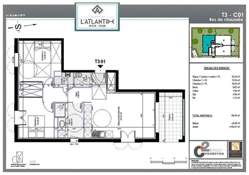 Vente appartement Tosse 223000€ - Photo 2