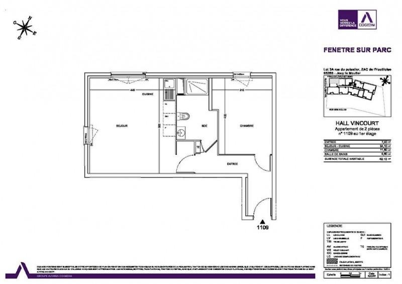 Location appartement Jouy le moutier 782€ CC - Photo 5