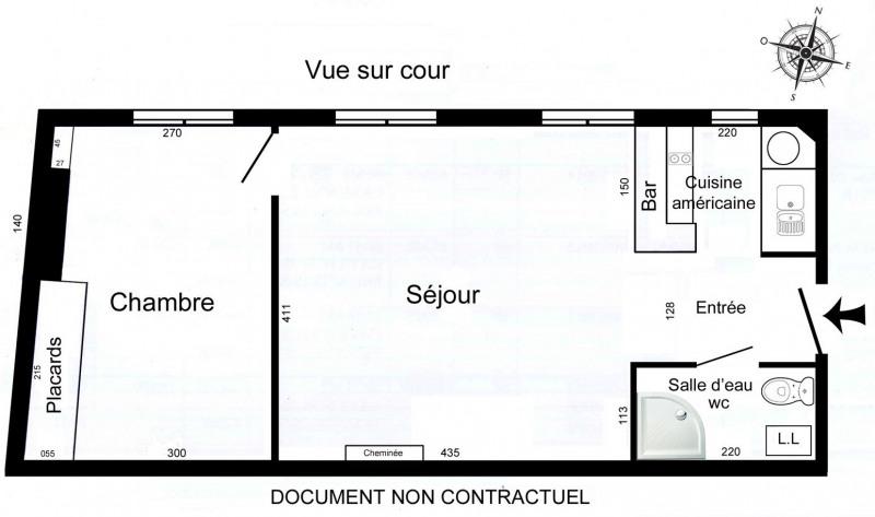 Sale apartment Paris 9ème 450000€ - Picture 2