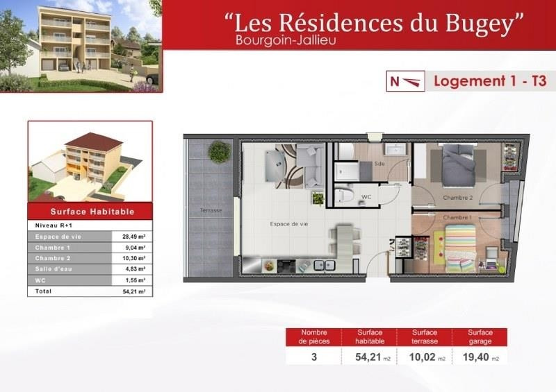 Sale apartment Bourgoin jallieu 177 630€ - Picture 2