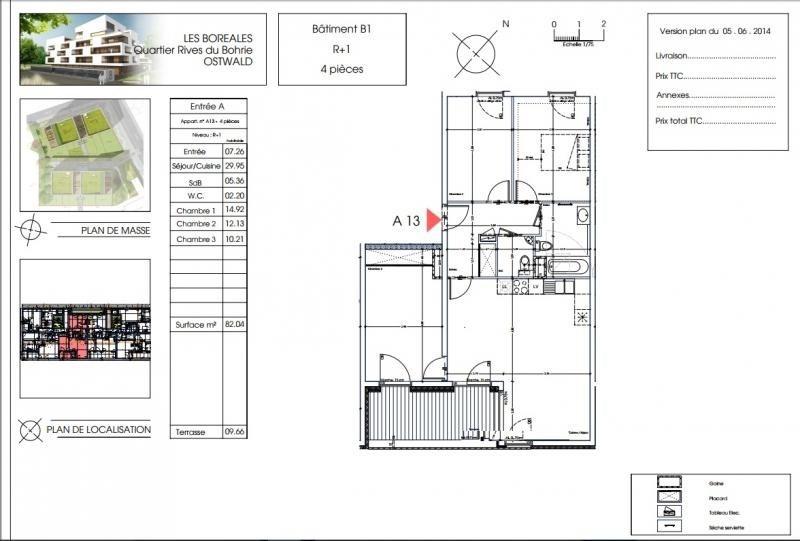 Venta  apartamento Ostwald 279400€ - Fotografía 2