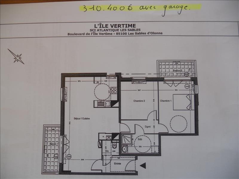 Deluxe sale apartment Les sables d olonne 310400€ - Picture 3