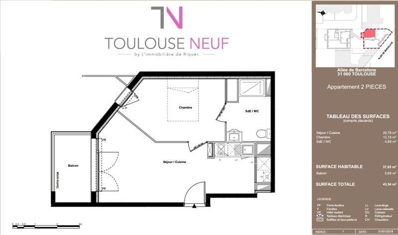 Vente appartement Toulouse 191000€ - Photo 7