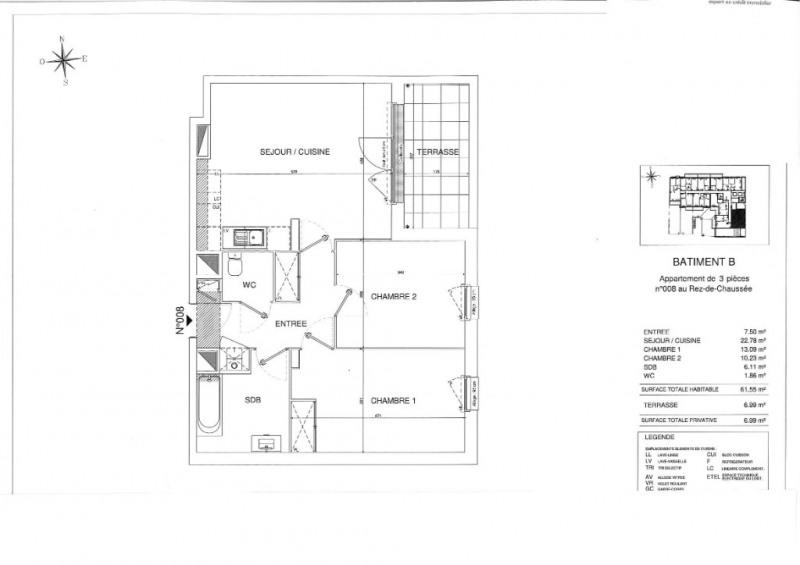 Sale apartment Sautron 260000€ - Picture 5