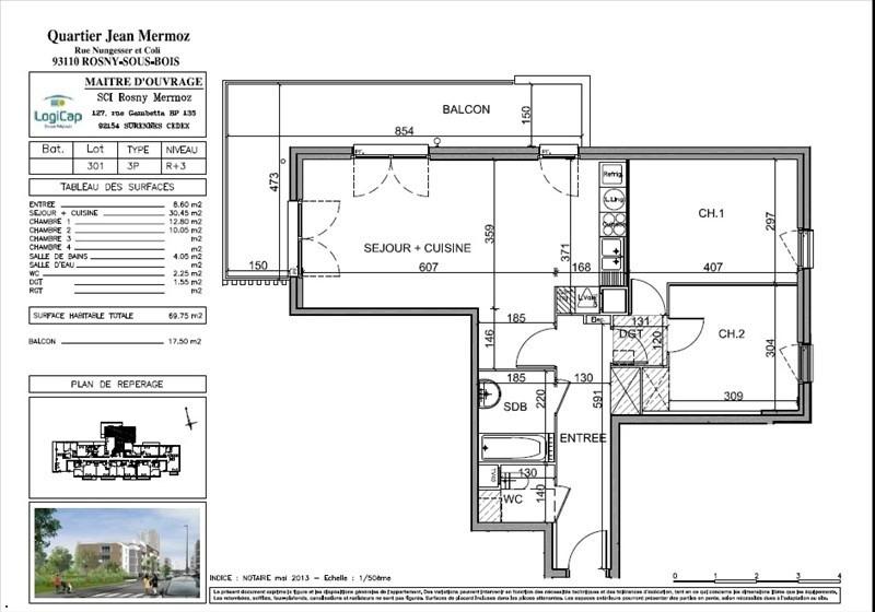 Vente appartement Rosny sous bois 235000€ - Photo 4
