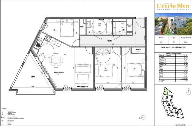 Deluxe sale apartment Balaruc les bains 314800€ - Picture 4