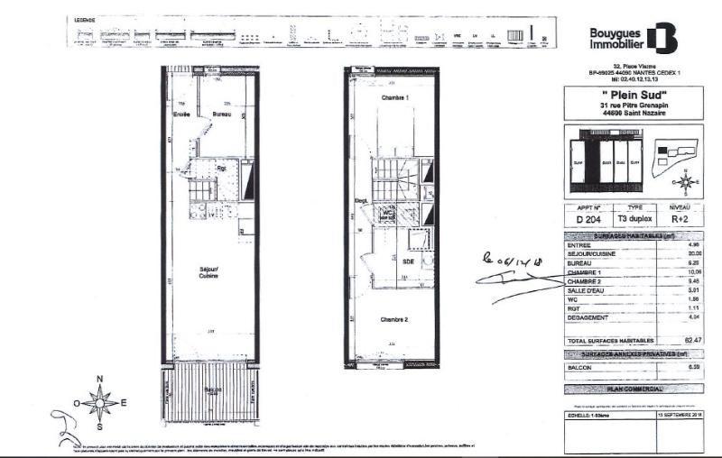 Rental apartment Saint nazaire 628€ CC - Picture 2