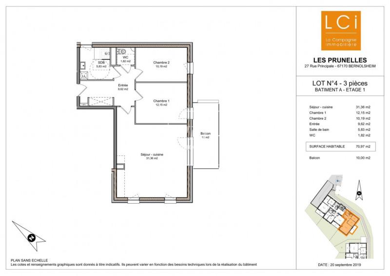 Sale apartment Bernolsheim 226650€ - Picture 2