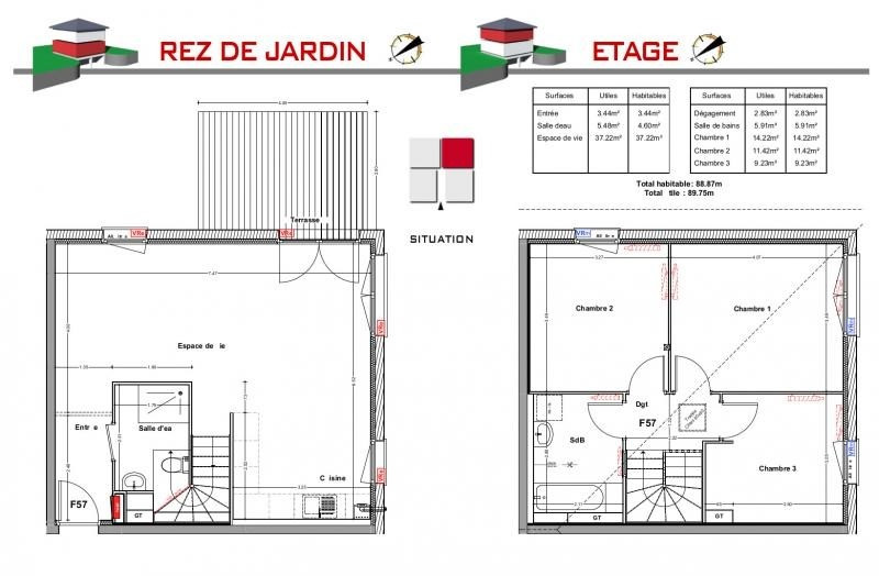Vente maison / villa Jons 289000€ - Photo 5