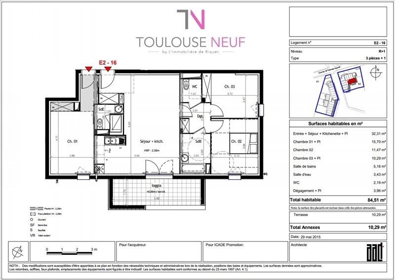 Vente appartement Toulouse 235800€ - Photo 10