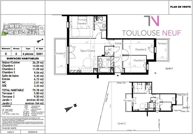 Vente appartement Tournefeuille 294000€ - Photo 9